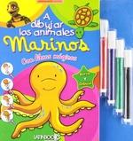 Tapa del libro A DIBUJAR LOS ANIMALES MARINOS