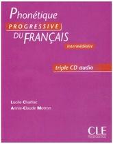 Phonétique progressive du français Intermédiaire - 3 CD audio