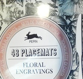 48 Placemats Floral Engravings (Nuevo)