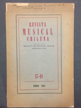 Revista Musical chilena N.º 17-18 (Usado)