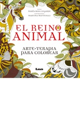 El reino animal: arte-terapia para colorear