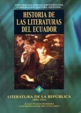 Historia de las literaturas del Ecuador. 4