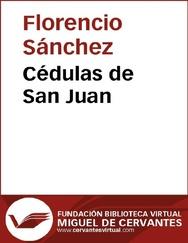 Tapa del libro Cédulas de San Juan