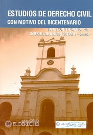 Tapa del libro ESTUDIOS DE DERECHO CIVIL CON MOTIVO DEL BICENTENARIO