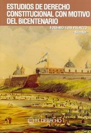 Tapa del libro ESTUDIOS DE DERECHO CONSTITUCIONAL CON MOTIVO DEL BICENTENARIO