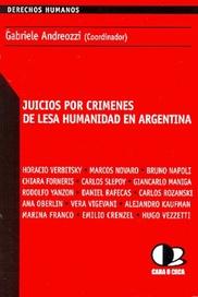 Tapa del libro JUICIOS POR CRIMENES DE LESA HUMANIDAD EN ARGENTINA