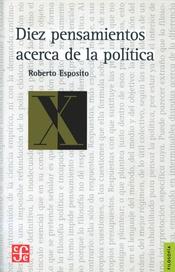 Tapa del libro DIEZ PENSAMIENTOS ACERCA DE LA POLITICA