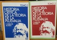 Tapa del libro HISTORIA CRITICA TEORIA DE LA PLUSVALIA 2 TOMOS