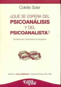 QUE SE ESPERA DEL PSICOANALISIS Y DEL PSICOANALISTA?