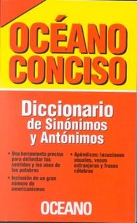 OCEANO CONCISO - DICCIONARIO  SINONIMOS Y ANTONIMOS
