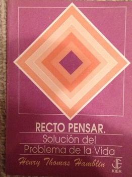 RECTO PENSAR (JOYAS ESPIRITUALES) - (AGOTADO)