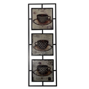 DECO APLIQUE 3 PANELES COFFEE.90 x 30 CM