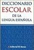 Tapa del libro DICCIONARIO ESCOLAR DE LA LENGUA ESPAÑOLA