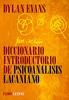 Tapa del libro DICCIONARIO INTRODUCTORIO DE PSICOANALISIS LACANIANO
