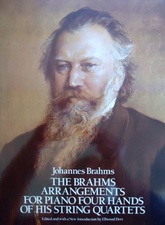 The Brahms arrangements for Piano Four Hands of his String Quartets