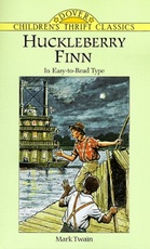 HUCKLEBERRY FINN IN EASY-TO-READ TYPE