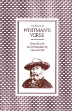 CHOICE OF WHITMAN'S VERSE,A