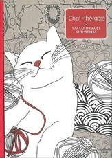 Art therapie Chat therapie : 100 coloriages anti - stress