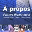 A PROPOS - COFFRET DE 2 CD AUDIO