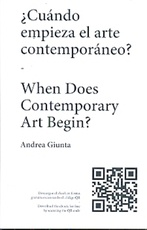 ¿Cuándo empieza el arte contemporáneo? / When does contemporary art begin? (bilingüe)