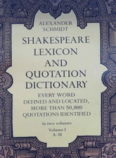 Shakespeare lexicon and quotation dictionary (2 Tomos) (Usado)
