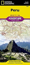 Peru Adventure Travel Map - 1:1,650,000