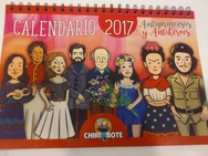 Tapa del libro CALENDARIO 2017 ANTIPRINCESAS Y ANTIHEROES