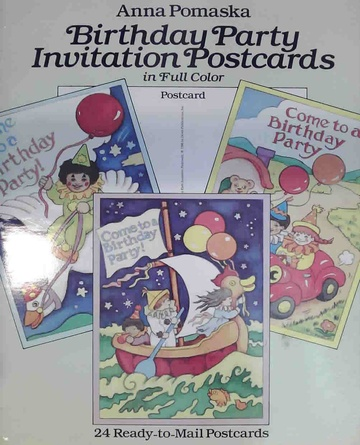 Birthday party invitation postcards (Usado)